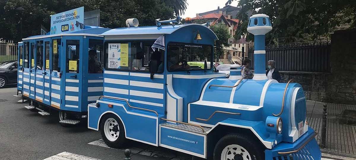 Un tren turístico con fines benéficos recorrerá Zarautz durante el verano