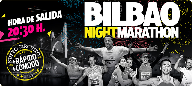 BM supermercados y Bilbao Night Marathon