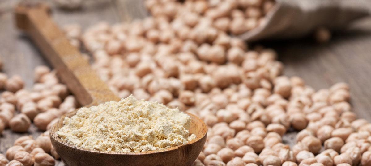 Tipos de harina saludables: harina de garbanzo