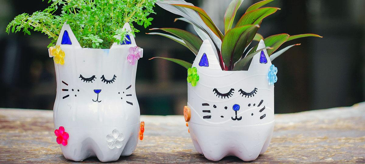 Ideas divertidas para reciclar envases y entretener a los peques en casa