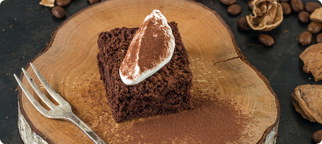 Brownie de tiramisú