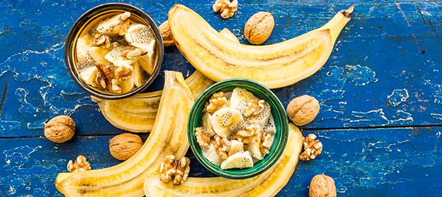 Chía con yogur y compota de plátano