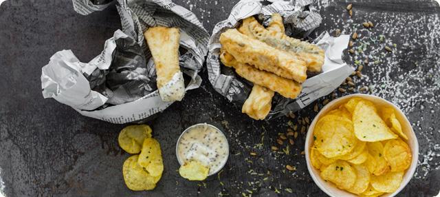Fish & Chips de merluza