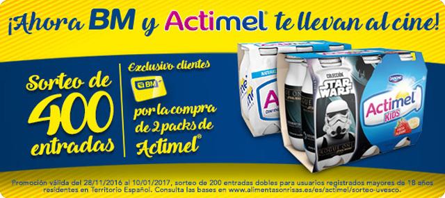 BM Supermercados y Actimel te llevan al cine