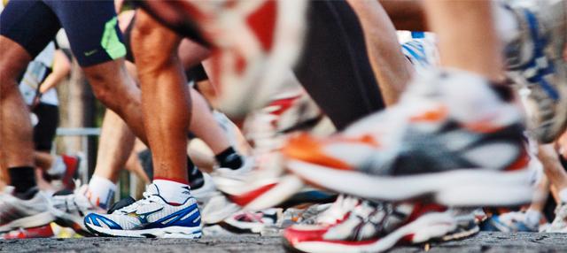corredores en una maraton