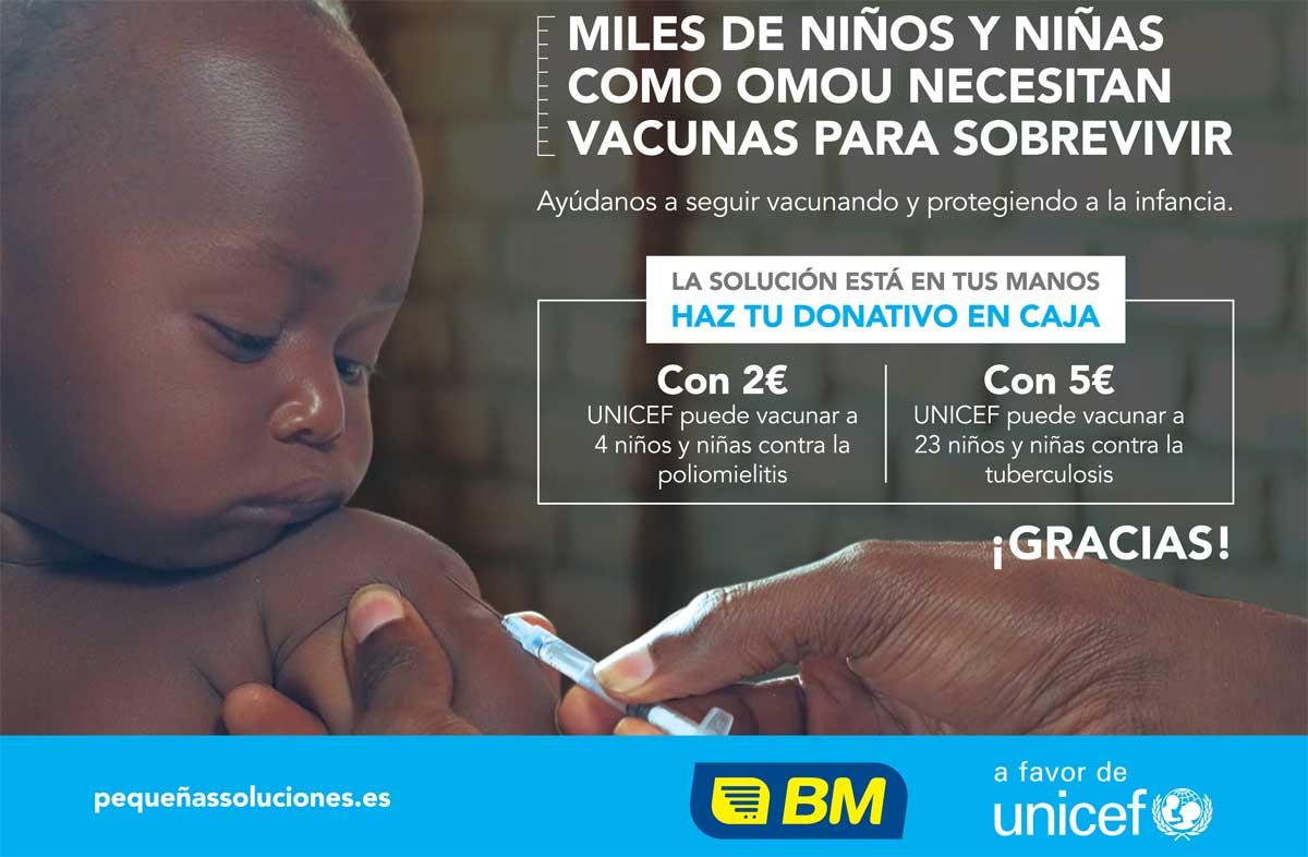 BM Supermercados y UNICEF se unen en busca de pequeñas soluciones para proteger a la infancia